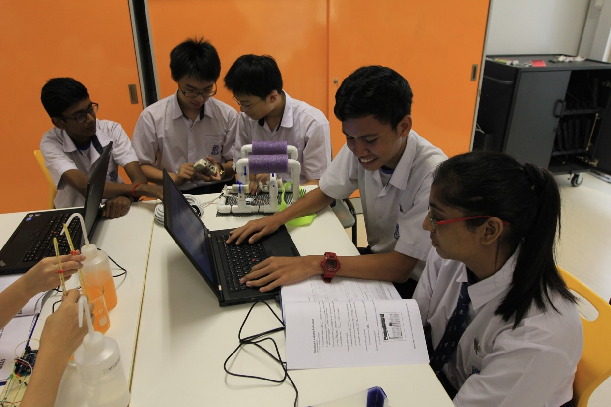 Yusoffians analysing data collected by the water-sensing system